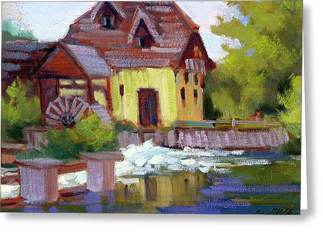 Old Mills Greeting Cards - Fourge Mill Giverny Greeting Card by Diane McClary