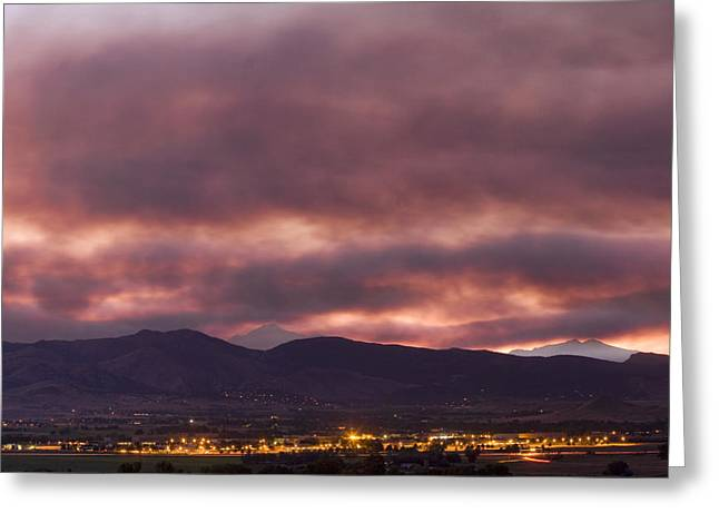 Striking Images Greeting Cards - Fourmile Canyon Labor Day Boulder County Wildfire Smoke North Sky Panorama Greeting Card by James BO  Insogna