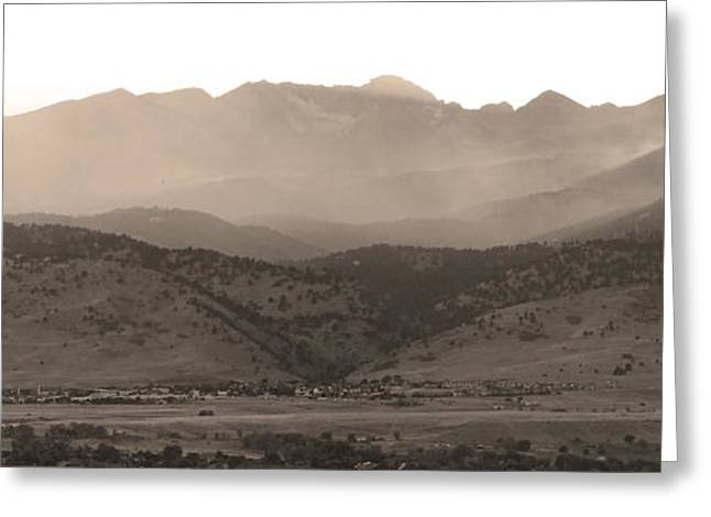 Striking Images Greeting Cards - Fourmile Canyon Wildfire Front Range View 09-09-10 Greeting Card by James BO  Insogna