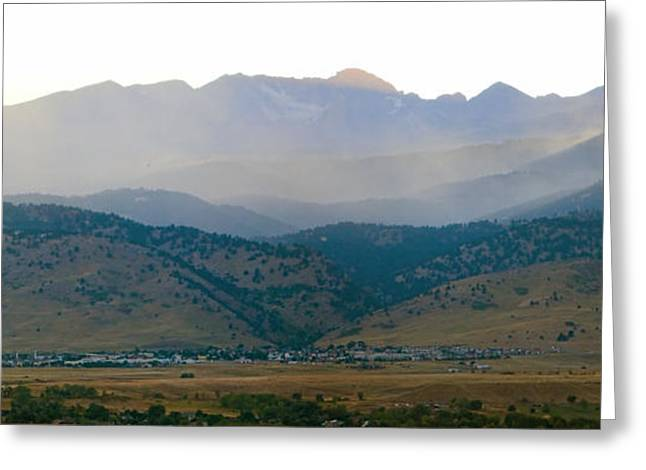 Striking Images Greeting Cards - Fourmile Canyon Wildfire Front Range Wind View 09-09-10 Panorama Greeting Card by James BO  Insogna