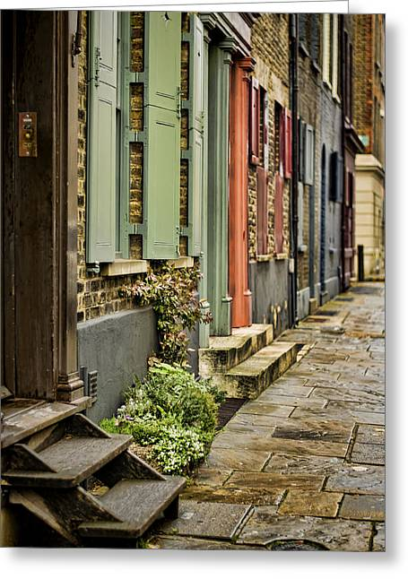 Stoop Greeting Cards - Fournier Street Greeting Card by Heather Applegate