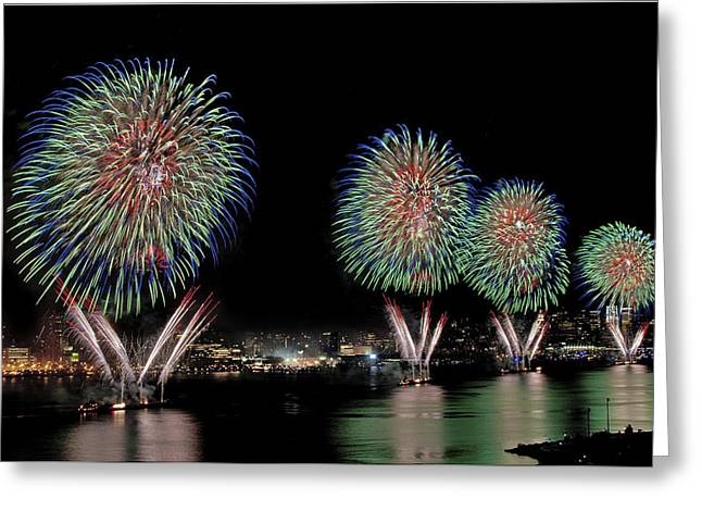 Independance Greeting Cards - Fourt of July in NYC Greeting Card by Susan Candelario