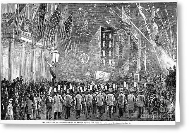 1876 Greeting Cards - Fourth Of July, 1876 Greeting Card by Granger