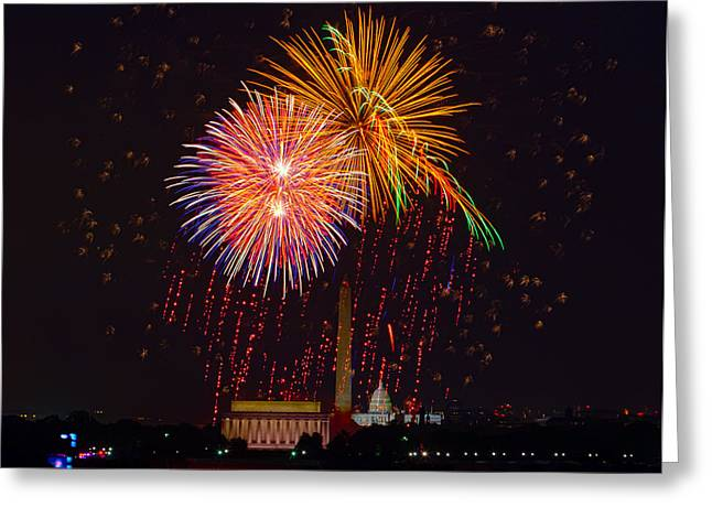 4th July Photographs Greeting Cards - Fourth of July Greeting Card by David Hahn