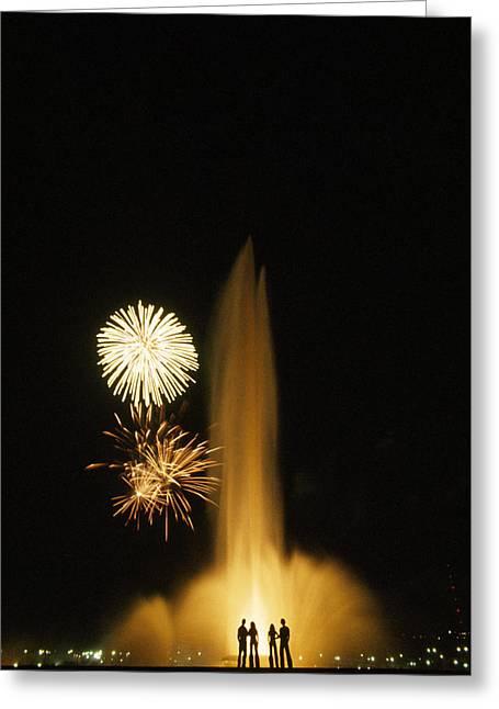 Fourth Of July Fireworks Greeting Card by Lynn Johnson