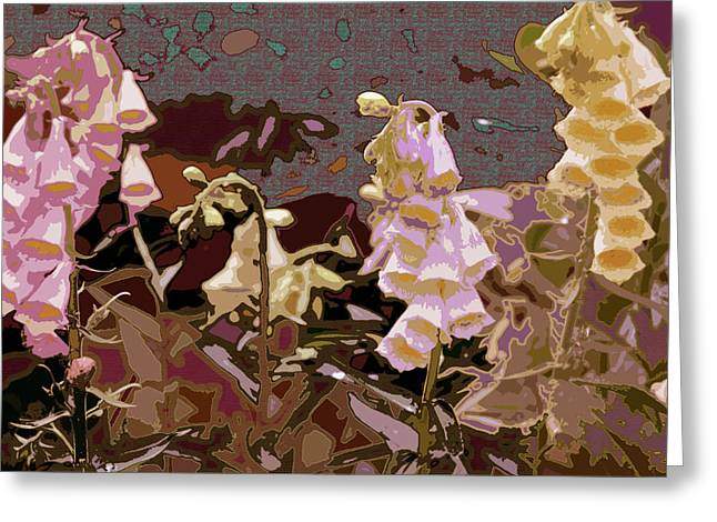 Foxglove Greeting Card by Renata Ferenc