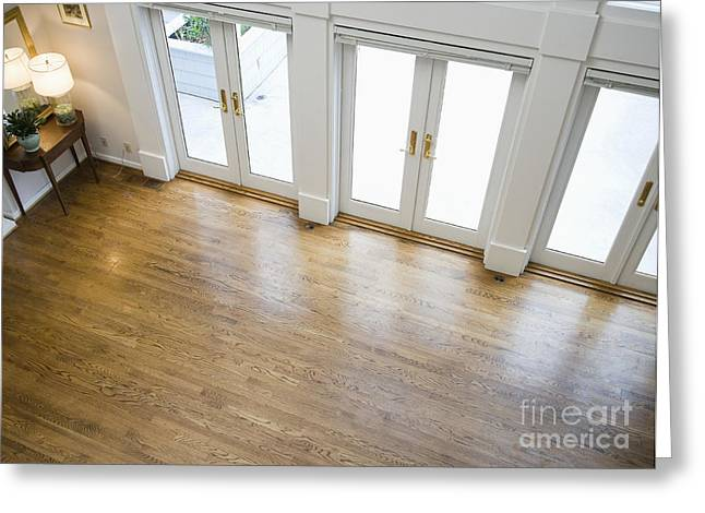 Hardwood Flooring Greeting Cards - Foyer and French Doors Greeting Card by Andersen Ross