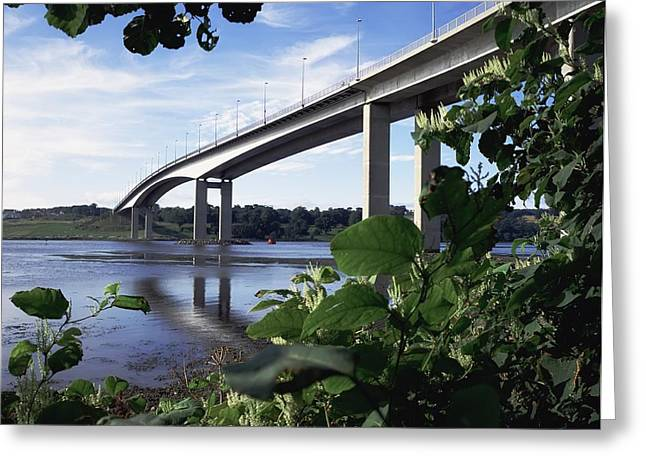 Union Square Greeting Cards - Foyle Bridge, Derry City, Co Greeting Card by The Irish Image Collection
