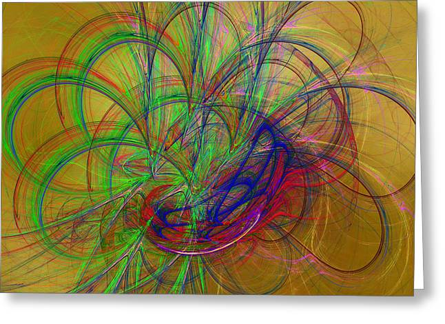 Apophysis Digital Art Greeting Cards - Fractal Art 36 Greeting Card by Sandy Keeton