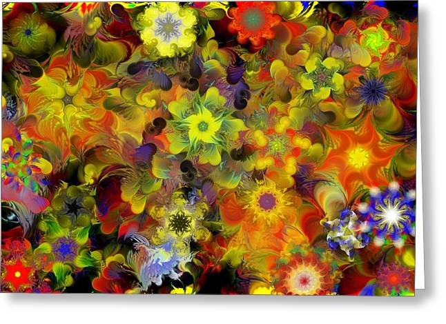 Fractal Flower Greeting Cards - Fractal Floral Study 10-27-09 Greeting Card by David Lane