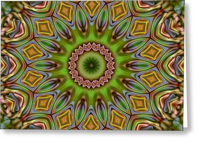 Fractals Fractal Digital Art Greeting Cards - Fractal Flower Greeting Card by Stefan Kuhn