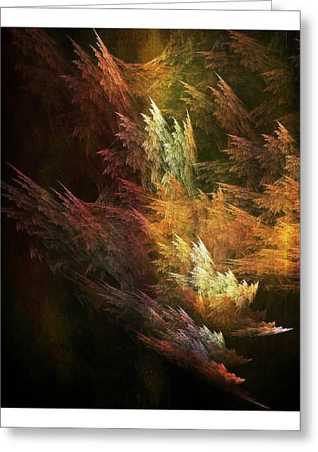 Surreal Geometric Greeting Cards - Fractal Forest Greeting Card by Bonnie Bruno