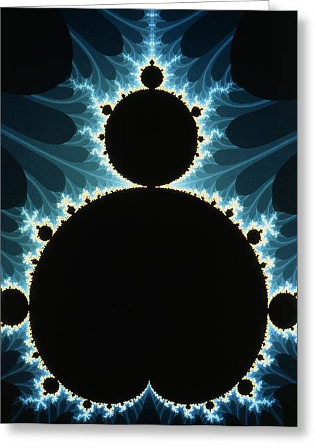 Computer Graphics Greeting Cards - Fractal Geometry : Mandelbrot Set Greeting Card by Dr Seth Shostak