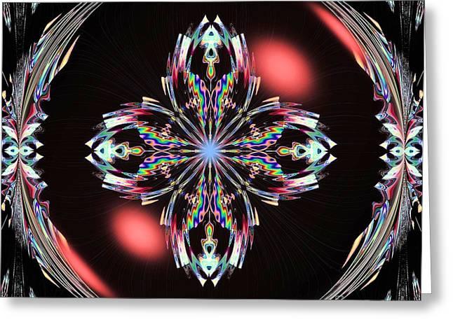 Fractal Illumination Greeting Card by Maria Urso