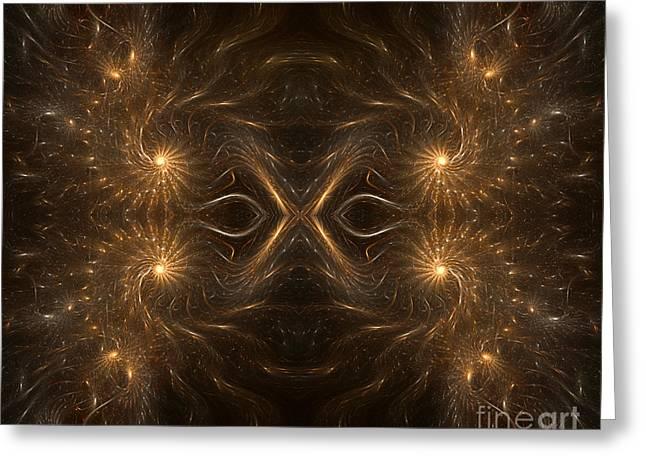 Abstract Digital Photographs Greeting Cards - Fractal Masquerade Greeting Card by Janeen Wassink Searles