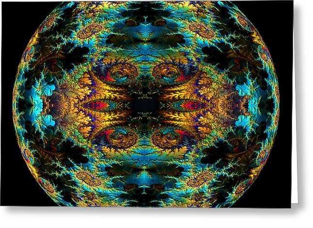 Fractal Orbs Greeting Cards - Fractal Sphere 2 Greeting Card by Randall Arthur