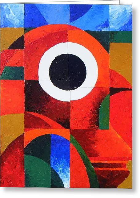 Harold Bascom Fine Paintings Greeting Cards - Fragmentation Greeting Card by Harold Bascom
