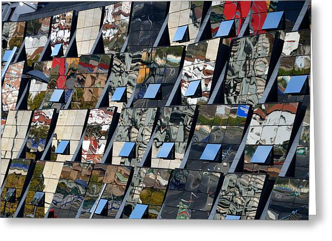 Reflex Greeting Cards - Fragmented Guggenheim Museum Bilbao Greeting Card by RicardMN Photography