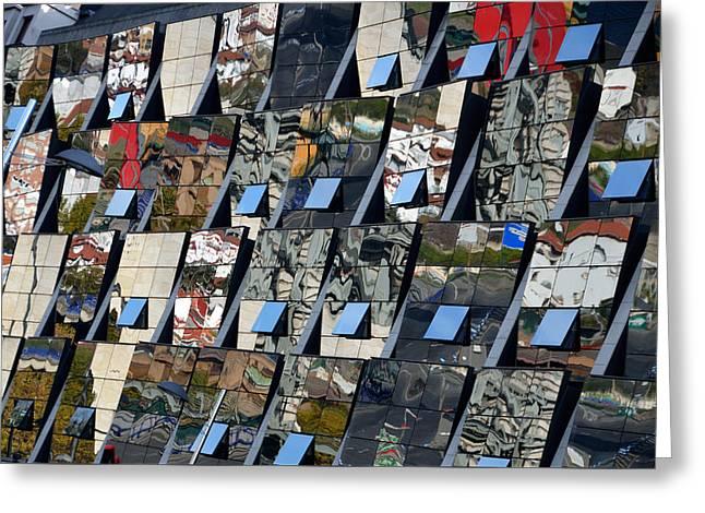 Fragmented Guggenheim Museum Bilbao Greeting Card by RicardMN Photography