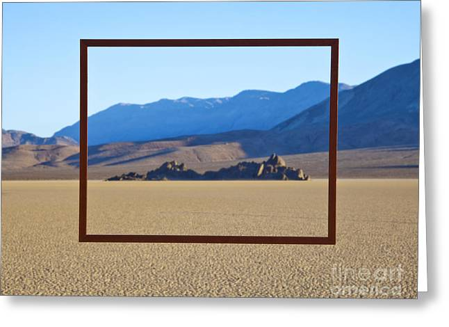 Outside Pictures Greeting Cards - Framed Area of Desert Greeting Card by David Buffington