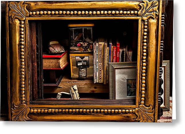 Christopher Holmes Greeting Cards - Framed Odds and Ends Greeting Card by Christopher Holmes