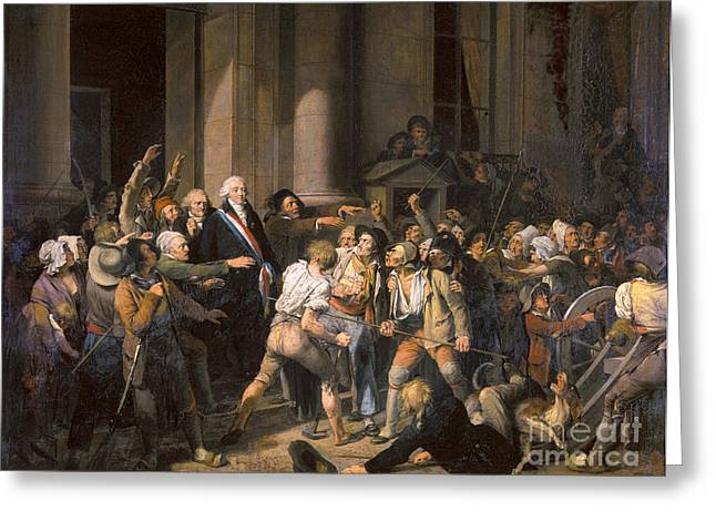Boilly Greeting Cards - France: Bread Riot, 1793 Greeting Card by Granger