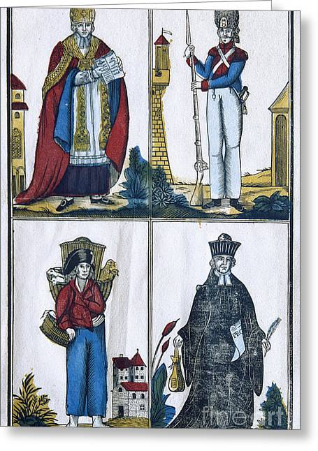 Bayonet Greeting Cards - FRANCE: CLASSES, c1822 Greeting Card by Granger