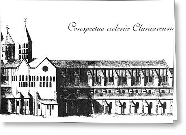 Engraving Greeting Cards - France: Cluny Greeting Card by Granger
