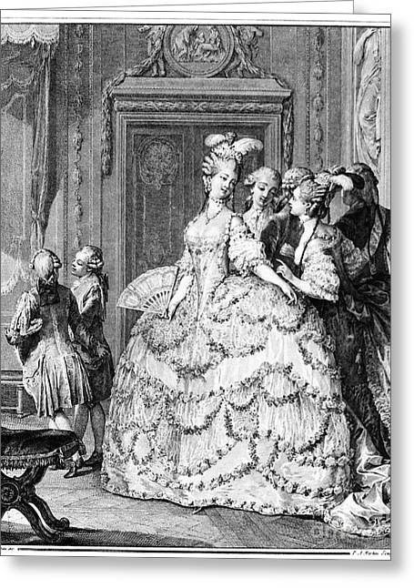 Lady In Waiting Greeting Cards - France: Court Life, 1780 Greeting Card by Granger
