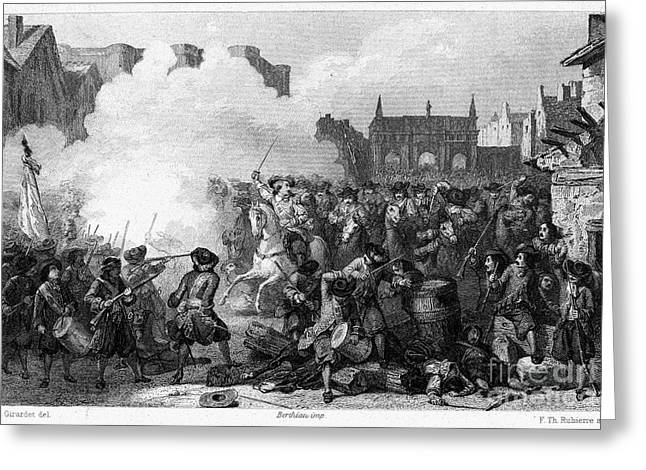 Unrest Greeting Cards - France: Fronde Battle, 1652 Greeting Card by Granger