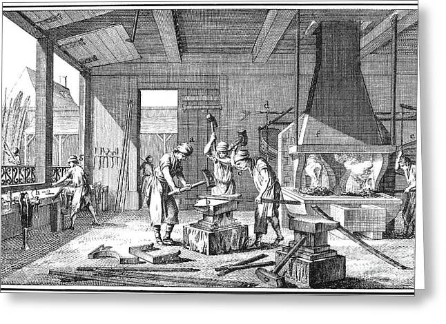 Ironworkers Greeting Cards - France: Iron Forge Greeting Card by Granger