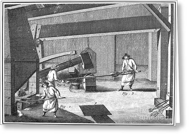 Ironworkers Greeting Cards - France: Iron-making Greeting Card by Granger