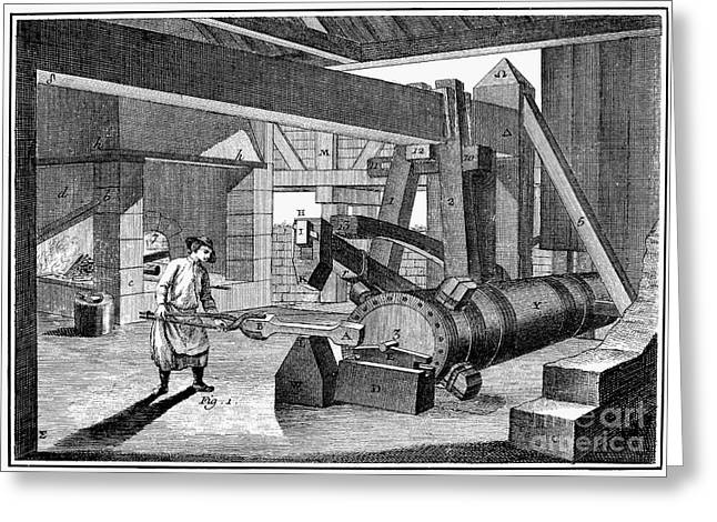 Ironworkers Greeting Cards - France: Iron Manufacture Greeting Card by Granger