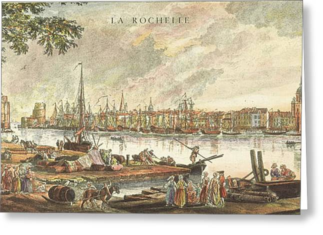 Engraving Greeting Cards - France: La Rochelle, 1762 Greeting Card by Granger