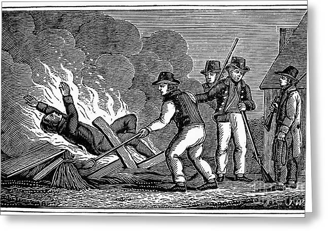 Anti Protestant Greeting Cards - France: Persecution, 1815 Greeting Card by Granger