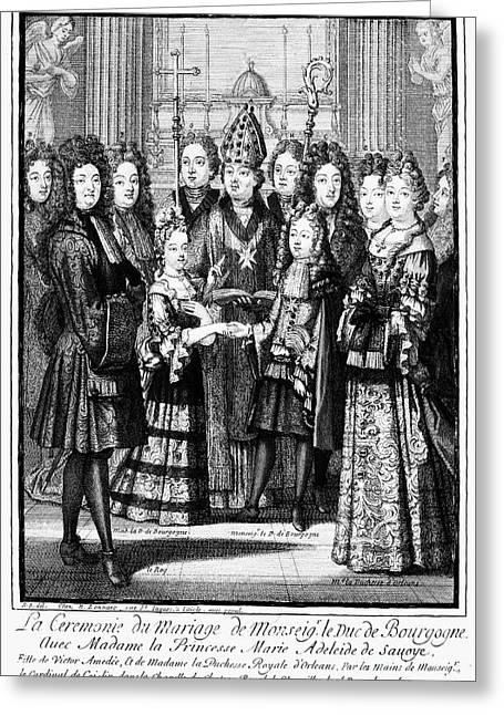 Duke Boys Greeting Cards - France: Royal Wedding Greeting Card by Granger