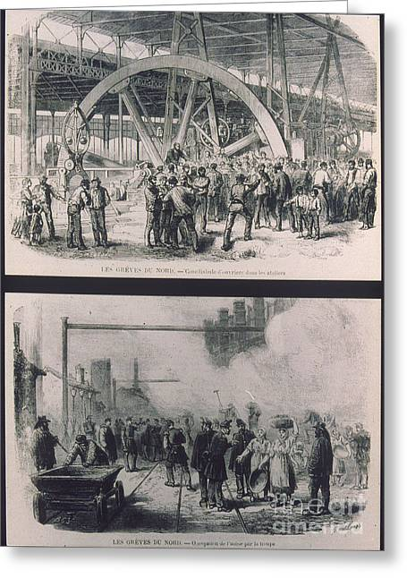Protesters Greeting Cards - France: Strike, 1872 Greeting Card by Granger