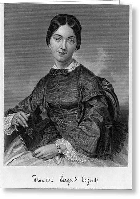 Frances Sargent Osgood (1811-1850). American Poet. Engraving From A Painting By Alonzo Chappel, C1873 Greeting Card by Granger