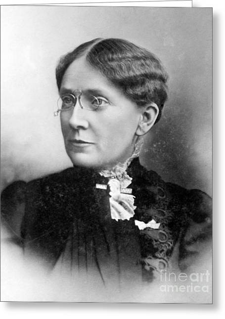 Temperance Movement Greeting Cards - Frances Willard, American Reformer Greeting Card by Photo Researchers
