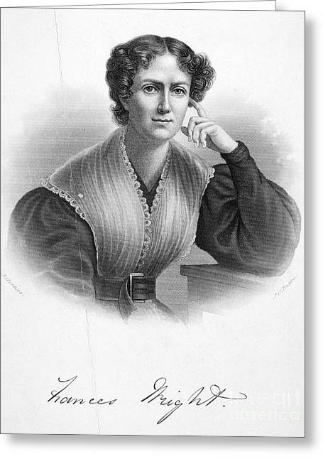 Abolition Greeting Cards - Frances Wright (1795-1852) Greeting Card by Granger