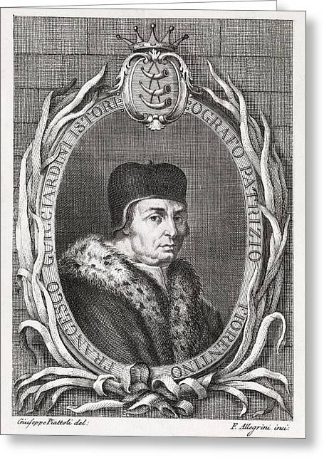 Patrician Greeting Cards - Francesco Guicciardini, Italian Historian Greeting Card by Middle Temple Library