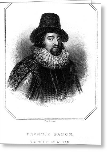 Statesman Greeting Cards - Francis Bacon (1561-1626) Greeting Card by Granger