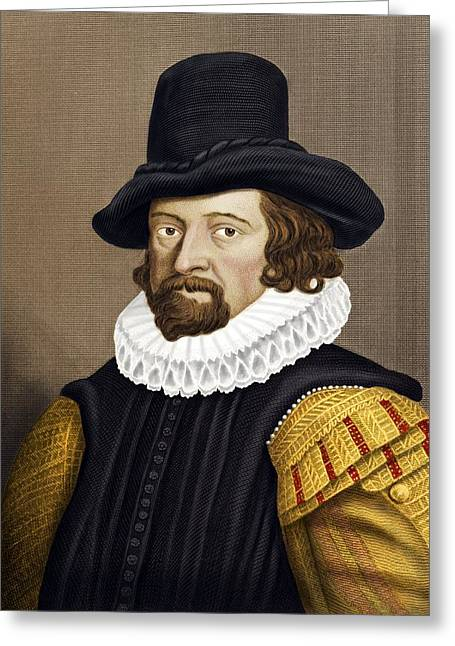 Francis B Greeting Cards - Francis Bacon, English Philosopher Greeting Card by Maria Platt-evans