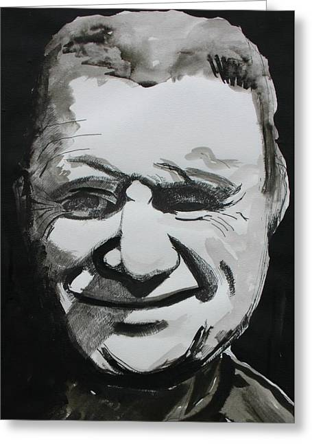 Francis Drawings Greeting Cards - Francis Bacon Study Greeting Card by Gerard Dillon