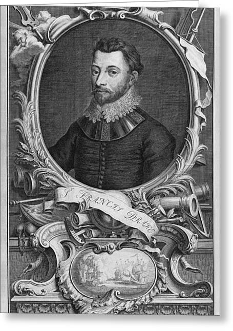 Francis Drake, English Explorer Greeting Card by Middle Temple Library