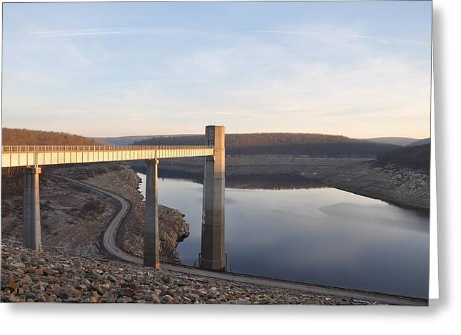 Francis E Walter Dam Greeting Card by Bill Cannon