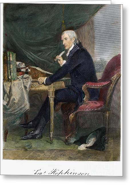 Statesman Greeting Cards - Francis Hopkinson Greeting Card by Granger