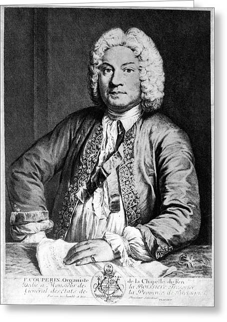 Francois Greeting Cards - FRANCOIS COUPERIN (1668-1733). French composer and organist. Copper engraving, 1725, by Joseph Flipart after A. Bouys Greeting Card by Granger
