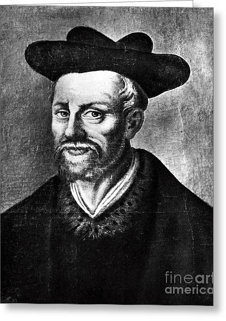 French Language Greeting Cards - Francois Rabelais, French Author Greeting Card by Photo Researchers
