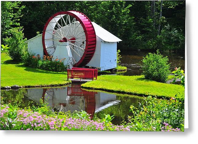 Franconia Notch Waterwheel Greeting Card by Catherine Reusch  Daley